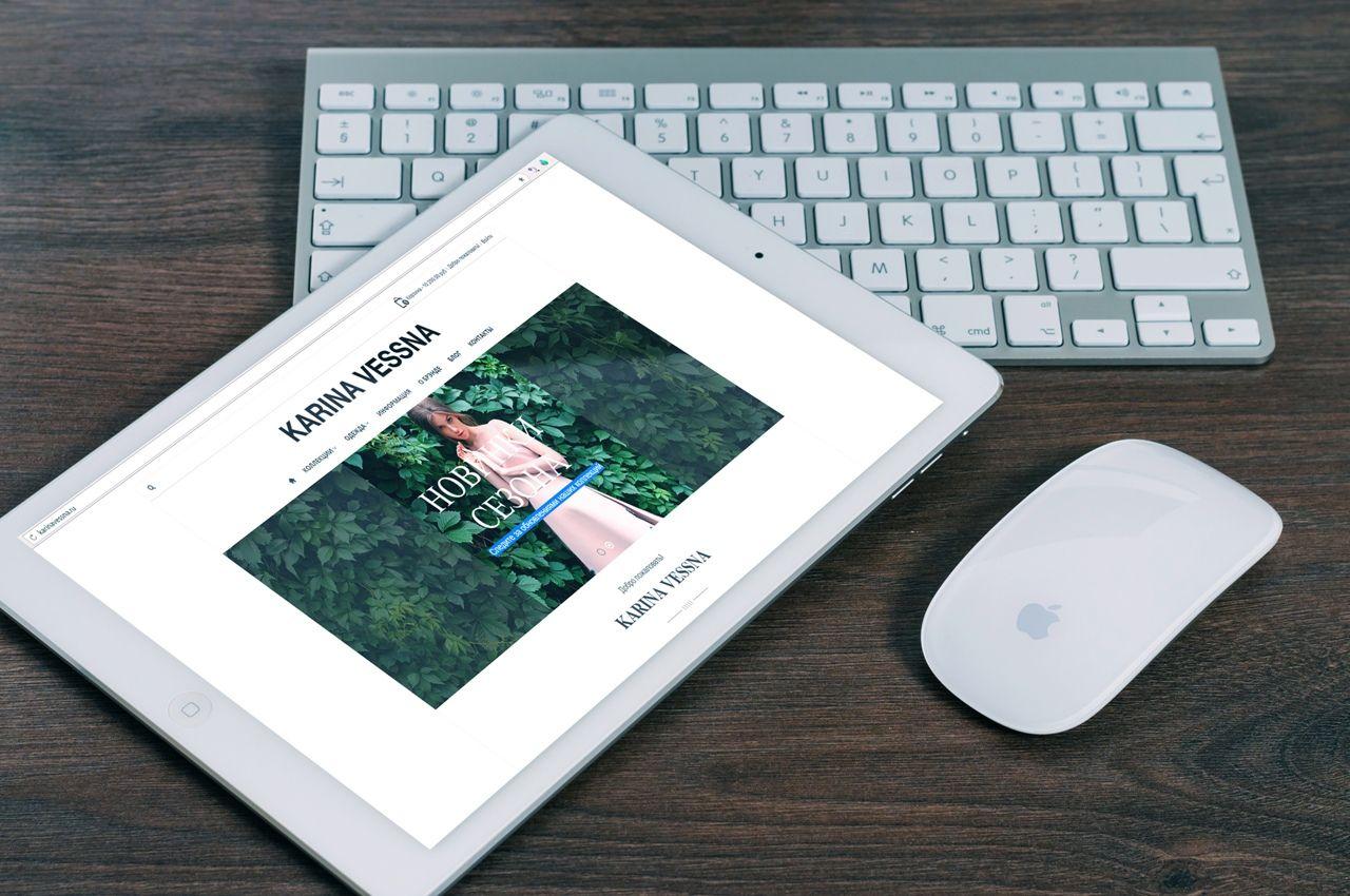 Дизайн сайта для Karina Vessna